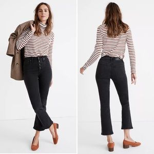 MADEWELL Jeans Cali Demi-Boot Black Button Front